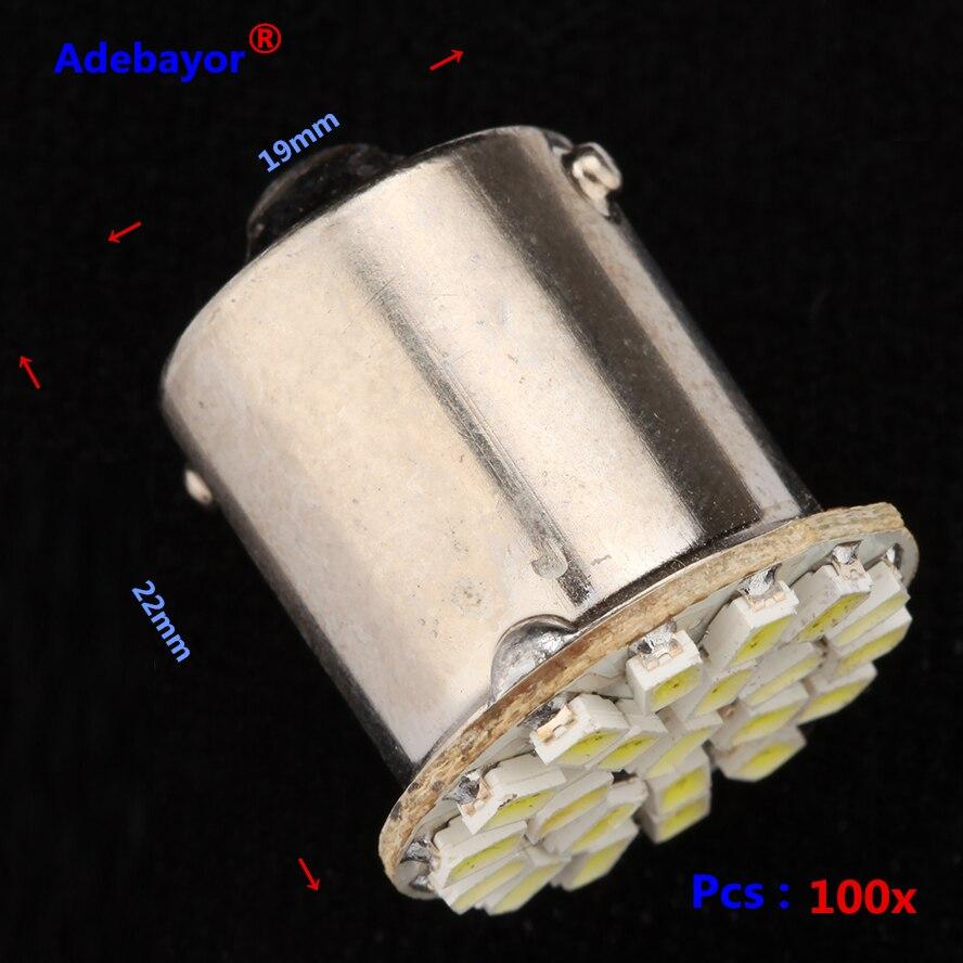 100 шт./лот 1156 BA15S P21w 22 smd 22 leds свет 3014 SMD Автомобильная светодиодная лампа Rogue 1206 SMD сигнал поворота Задний свет белый