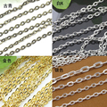 10m/lot 2X3mm/3x4mm Silver/Gold Plated Necklaces Chains Brass Bulk Jewelry Link Chain For DIY Necklace Bracelet Making Findings