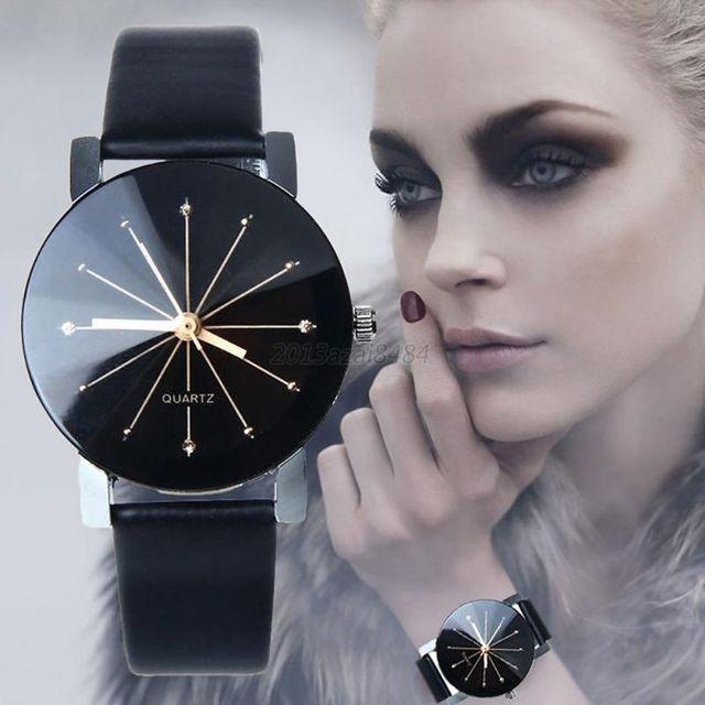 Relogio feminino watches Quartz Dial Clock Leather Casual Leather Wrist Watches
