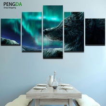 pengda poster modular pictures 5 panel animal frames canvas - Wolf Picture Frames