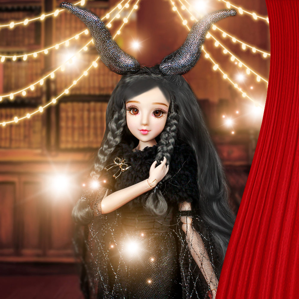 Fortune Day MMGirl 12 Constellation Capricorn like BJD Blyth doll 1/6 30cm black dress new suit 14 joint body dolls toy gift