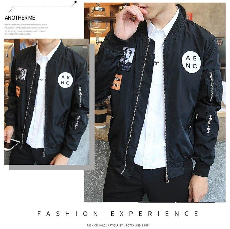 Grandwish Fashion Men Bomber Jacket Hip Hop Patch Designs Slim Fit Pilot Bomber Jacket Coat Men Jackets Plus Size 4XL,PA573