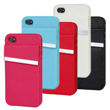 For iPhone 4 Cover Cases Mobile Protective Shell Card Holder Smartphone Wallet Phone Accessory For iPhone 4S Cases Cover