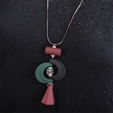 LUFANG  Fashion Jewelry Bohemia Collier Statement Maxi Necklace 2017 Black Red Punk Ethnic Moon Big Star Long Necklace Women