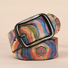 2016 New fashion colourful belts for women genuine leather belt woman high quality luxury designer Cowskin strap female 110CM
