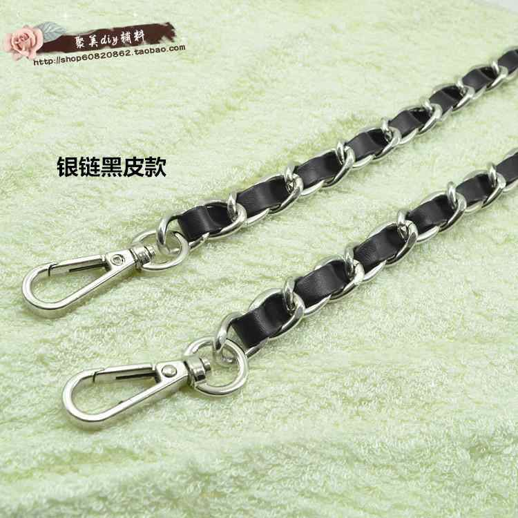 Free shipping leather handle bag strap purse strap bag hardware handbag strap bag parts chain bag chain belt baghandle