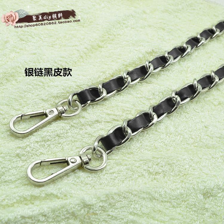 Free Shipping Leather Handle Bag Strap Purse Strap Bag Hardware Handbag Strap Bag Parts Chain Bag Chain Belt Baghandle