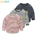 3 Colors Hot Sale Boys Striped T-Shirts NO.5 Patchwork Long Sleeve Tees For Baby Boy Spring/Autumn O-Neck Boys Clothing CMB287