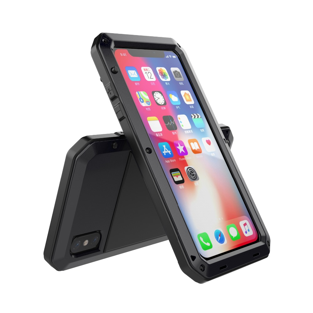 For iphone XS Case Waterproof Cover for iphone X Aluminum Metal