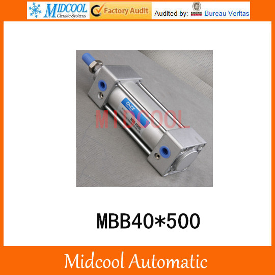 Double acting pneumatic cylinder MBB40*500 bore 40mm stroke 500mm high quality double acting pneumatic gripper mhy2 25d smc type 180 degree angular style air cylinder aluminium clamps