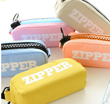 [4Y4A] 1pcs School Supplies Pencil-Case Stationery large capacity canvas pencil case pencil zipper pencil pen bags snack pencil case