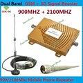 Dual Band GSM 3G Repetidor GSM 900 Mhz Sinal de Telefone Móvel Repetidor de sinal impulsionador + 3G WCDMA Dual Celular 3G Kits de Amplificador Com antena