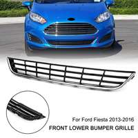 Car Chrome Front Bumper Center Grill Lower Grille Cover Trim For Ford/Fiesta 2013 2014 2015 2016