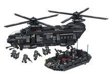 1351pcs Chinook transport helicopter Model Swat team Building Blocks Compatible with Lepin Bricks Toys Gift For Children
