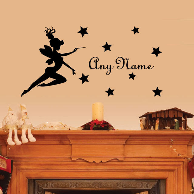 Personalized Name Girls Room Wall Decal Fairy Stars Custom Name Wall ...
