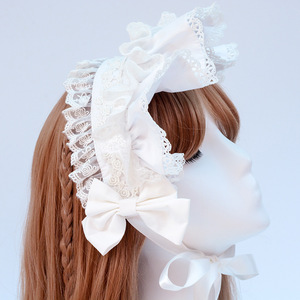 Image 5 - Afternoon Time ~ Sweet Ruffled Lolita Headband with Lace Trimming