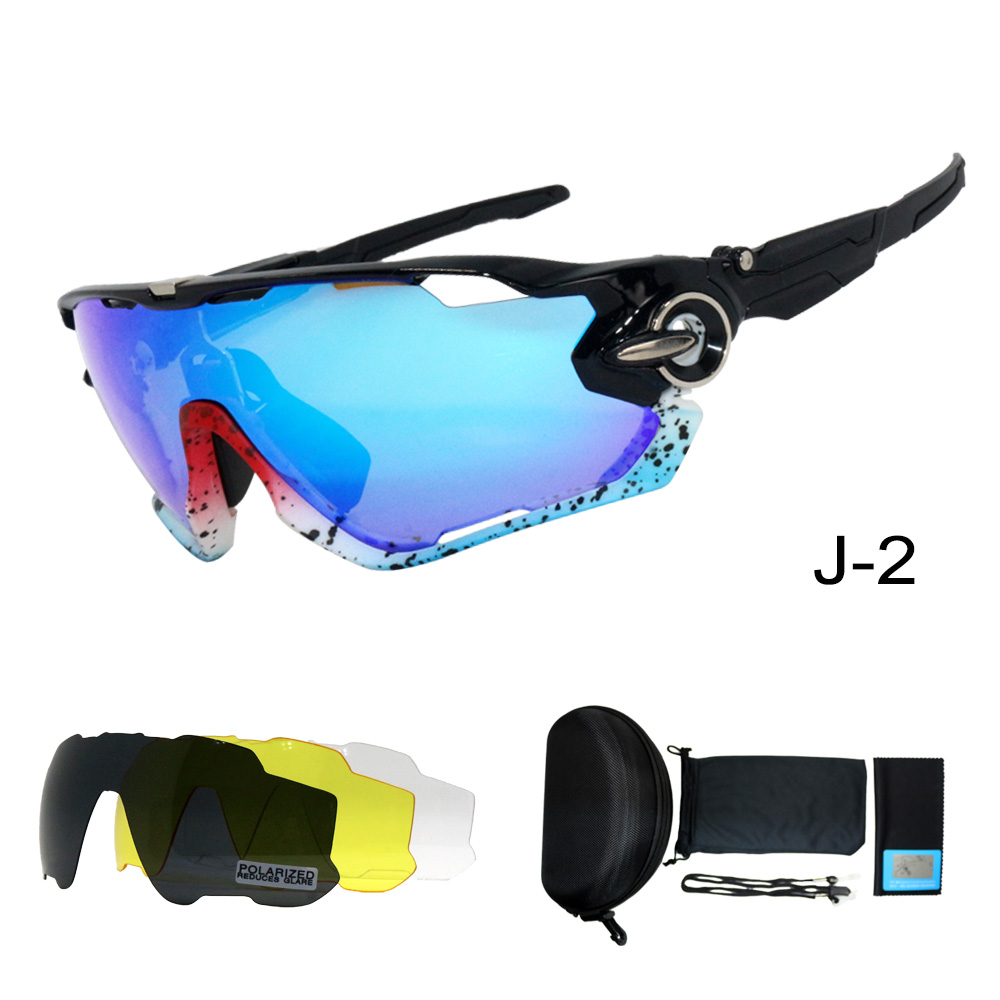 4 Lenses Set 2019 NEW Fashion Polarized Ciclismo Sunglasses Sport Glasses UV400 Eyewear