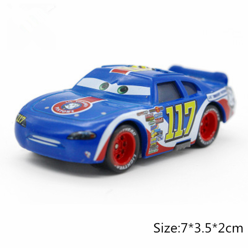 Disney Pixar Cars 3 2 No.117 Torquey Pistons Racing Cars Chick Hicks Mater 1:55 Diecast Metal Alloy Model Cars Kid Gift Boy Toy