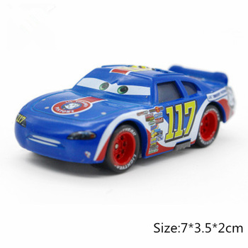 Disney Pixar Cars 3 2 No.117 Torquey Pistons Racing Cars Chick Hicks Mater 1:55 Diecast Metal Alloy Model Cars Kid Gift Boy Toy image