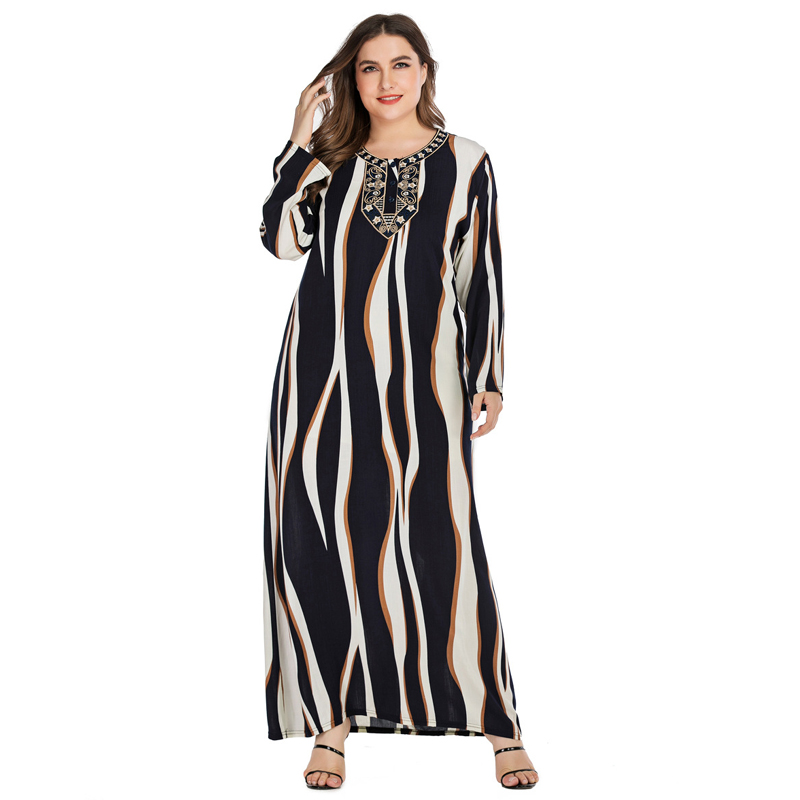 Women Boho Tunic Long Sleeve Maxi Dress Gypsy Casual Shirt Kaftan Muslim Vintage