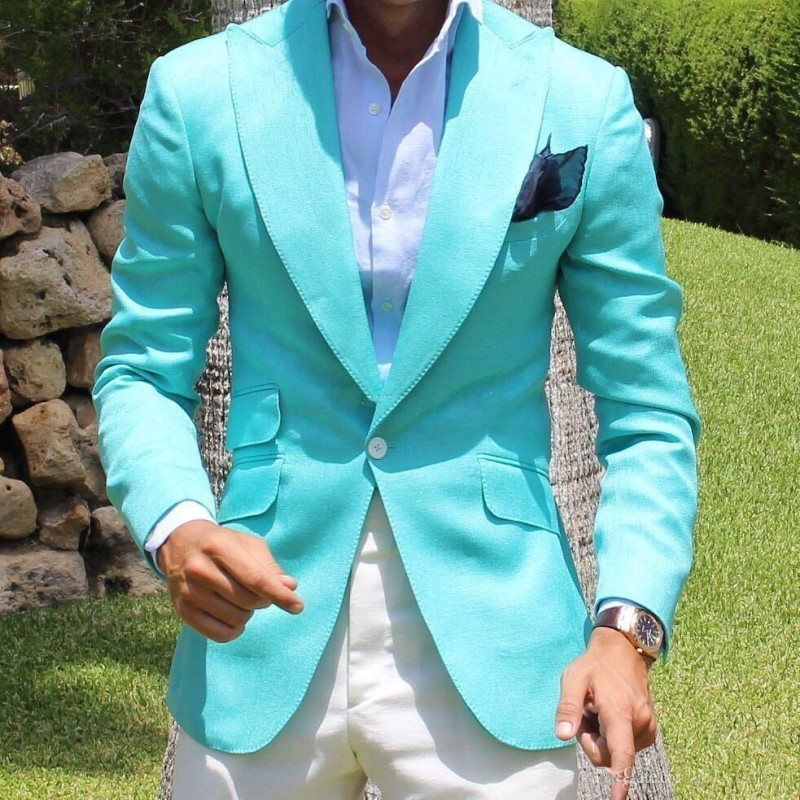 Custom Men's West Slim Fit Suits For Wedding Causal Groom Gown Prom Fashion Trends Latest Design 2 Pieces Jacket Pants(China)