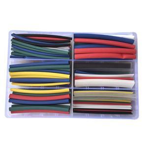 154 sztuk 2:1 ciepła kurczy rury z pudełkiem z koszulką izolacyjną kolorowe 90mm długość