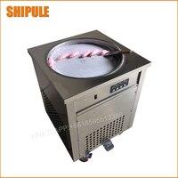 Gelo máquina de fritar tailândia fry máquina de sorvete rolou sorvete máquina única rodada/praça pan