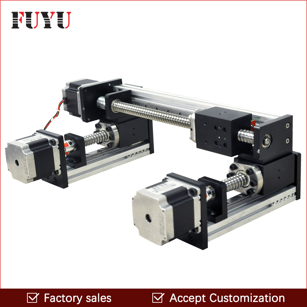 Free shipping factory sale motorized ball screw linear guide rail XY stage motion table motor for engraving machine parts free shipping 100 1500mm linear guide rail slide module ball screw and motor for 3d printer parts kit and cnc engraver machine