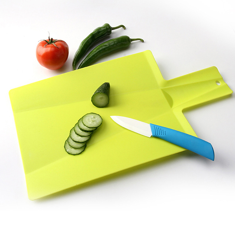 Plastic Flexible Portable Plastic Folding Chopping Block Non-slip Frosted Antibacteria Cutting Board Vegetable Meat Essential
