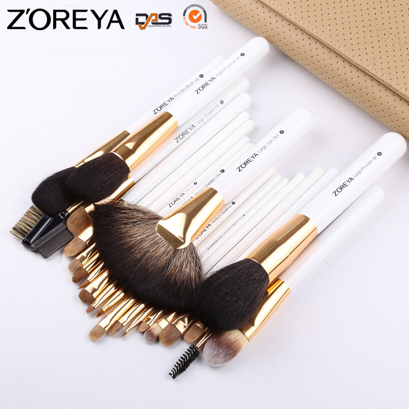 ZOREYA 22pcs Professional Makeup Brush Set High Quality Powder Blusher Eyeshadow Make Up Brushes Cosmetic Tools Pincel Maquiagem zoreya 9pcs professional makeup brushes sets powder blending blusher make up brush eyeshadow maquiagem makeup cosmetic tool kits