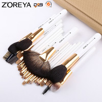 ZOREYA Brand 22pcs Professional Makeup Brushes Set Sable Goat Hair Fan Powder Blush Eyeshadow Brush Cosmetic