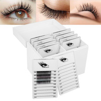 2019 10Layers Eyelash Extension Storage Box Brand New Plastic White False Eyelash Eyelash Storage Case Independent drawer design