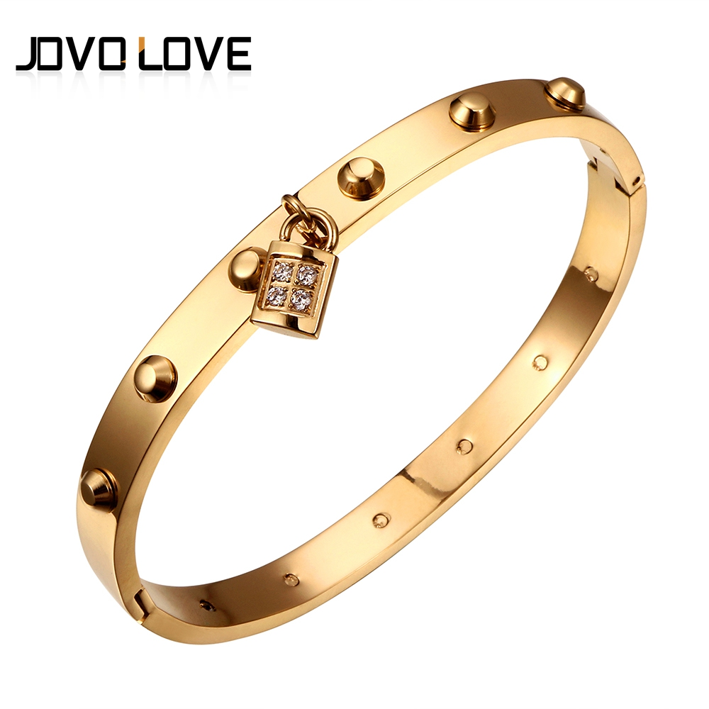 Hot Selling Crystal Bracelets Jewelry Titanium Steel Bracelets & Bangles Shiny Crystal Bead Gold Bracelet for Women Wedding Gift