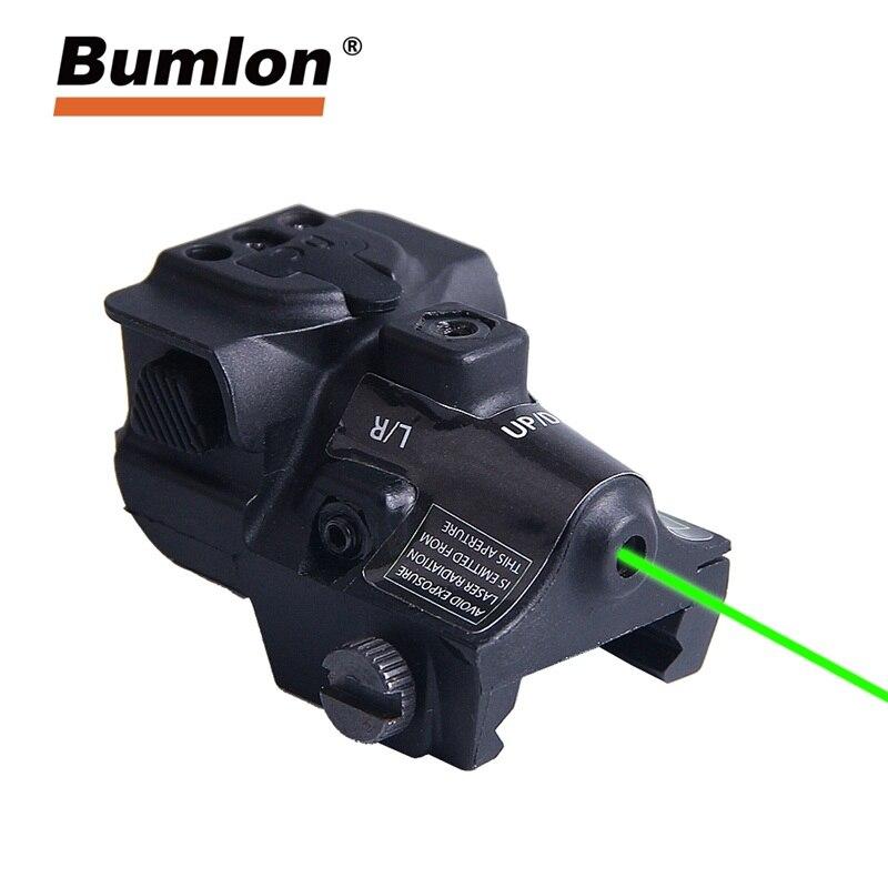 Viseur Laser vert Universel Ajustable Lunettes Laser Pistolet Tactique Glock Pistolet Fusil De Chasse Optique Airsoft RL3-0034