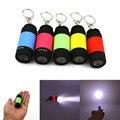 Potente portátil al aire libre mini llavero linterna antorcha cargador micro usb usb lámpara recargable de 5 colores flash de la antorcha