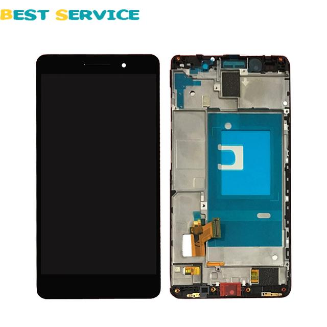Para huawei honor 7 lcd screen display com digitador touch screen + quadro assembléia peças de reposição branco/preto/ouro + ferramentas