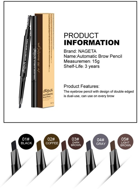 1 PC Women Waterproof Eye Liner Eyebrow Pen Pencil Eyebrow Eyeliner Makeup Cosmetic Beauty Tools 5 Colors 3
