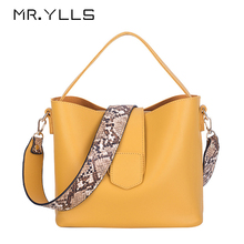 Casual Pu Bucket Bag Women Handbags Fashion Serpentine Strap Shoulder Bags Lady Large Capacity Messenger Crossbody Bags 2019 Sac