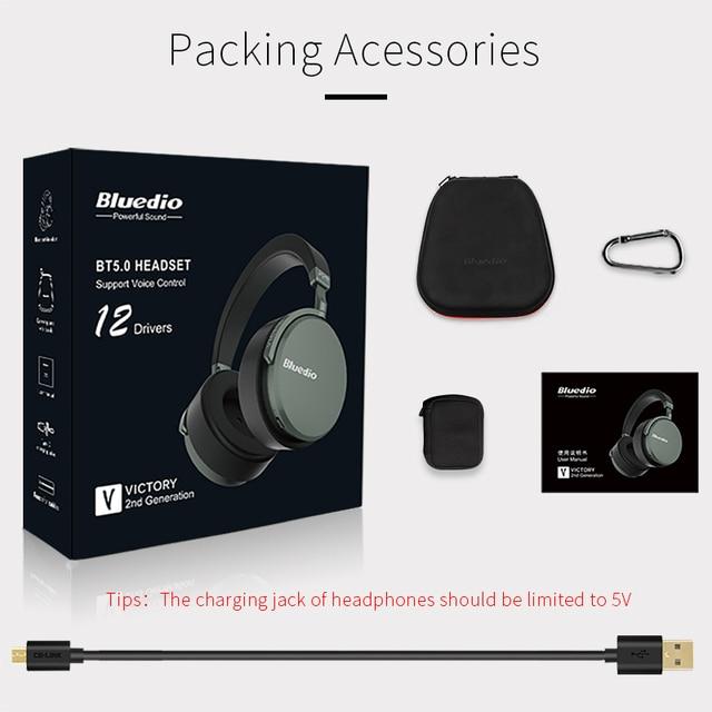 Bluedio V2 bluetooth headphone PPS12 drivers HIFI headphone with microphone 6