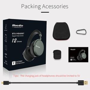 Image 5 - Bluedio V2 Bluetooth אוזניות אלחוטי אוזניות PPS12 נהגים עם מיקרופון אוזניות עבור טלפון ומוסיקה