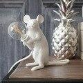 Американский дизайн Золотая мышь настольная лампа индивидуальный подарок для детей украшение комнаты милые Светодиодные ночные светильни...
