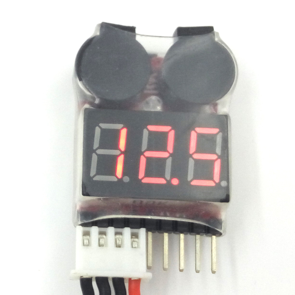 LED 1-8S <font><b>LiPO</b></font> <font><b>Battery</b></font> Voltage Tester/ Low Voltage Buzzer Alarm (1S support <font><b>3.7</b></font>-30V) image
