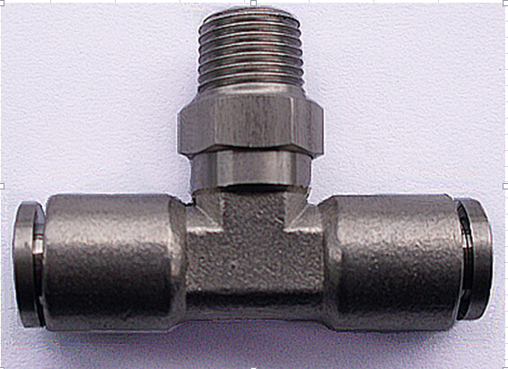 03b063fee068 Tube size 1 4-1 4 NPT thread stainless steel 316 Male branch tee Type  pneumatic fitting