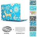BTD Sika Deer Hard Laptop Case Cover For Macbook Pro 13 15 Retina Air 11 13 Crystal Shell for Retina 13 15+ Keyboard Cover