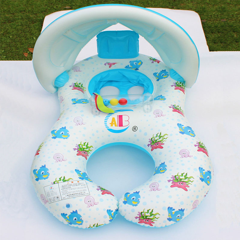 Baby Kids Inflatable Swimming Ring Children Double Swim Circle Safety Float Seat Pool Toys