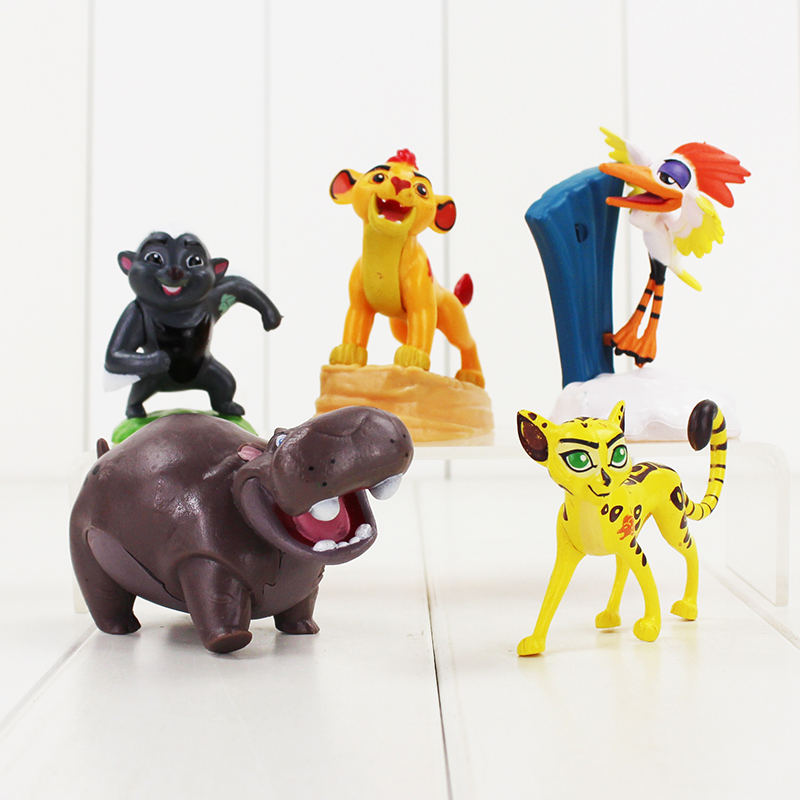 Us 697 25 Off5pcslot The Lion King Figure Toys Simba Nala Rafiki Zazu Hippo Bird Animal Model Dolls For Children In Action Toy Figures From