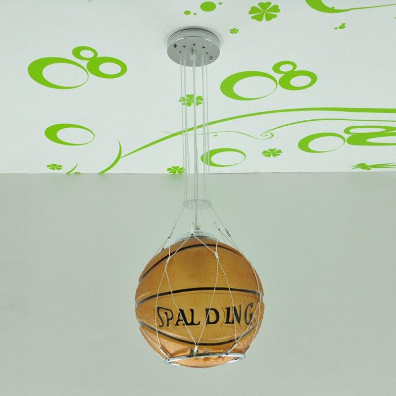 Livraison gratuite basket lampe suspension chambre enfant basket lumière chambre verre suspension cadeau enfant cadeau garçon - 6