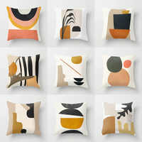 18'' Elife Geometric Nordic Cushion Cover Tropic Modern Art Throw Pillow Cover Polyester Cushion Case Sofa Cafe Decorative Pi