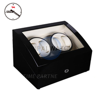 High End Black Wooden White Leather Ultra Slient Moters 5 Modes Watch Winder Box 4+6,2+0 Automatic Watch Winder
