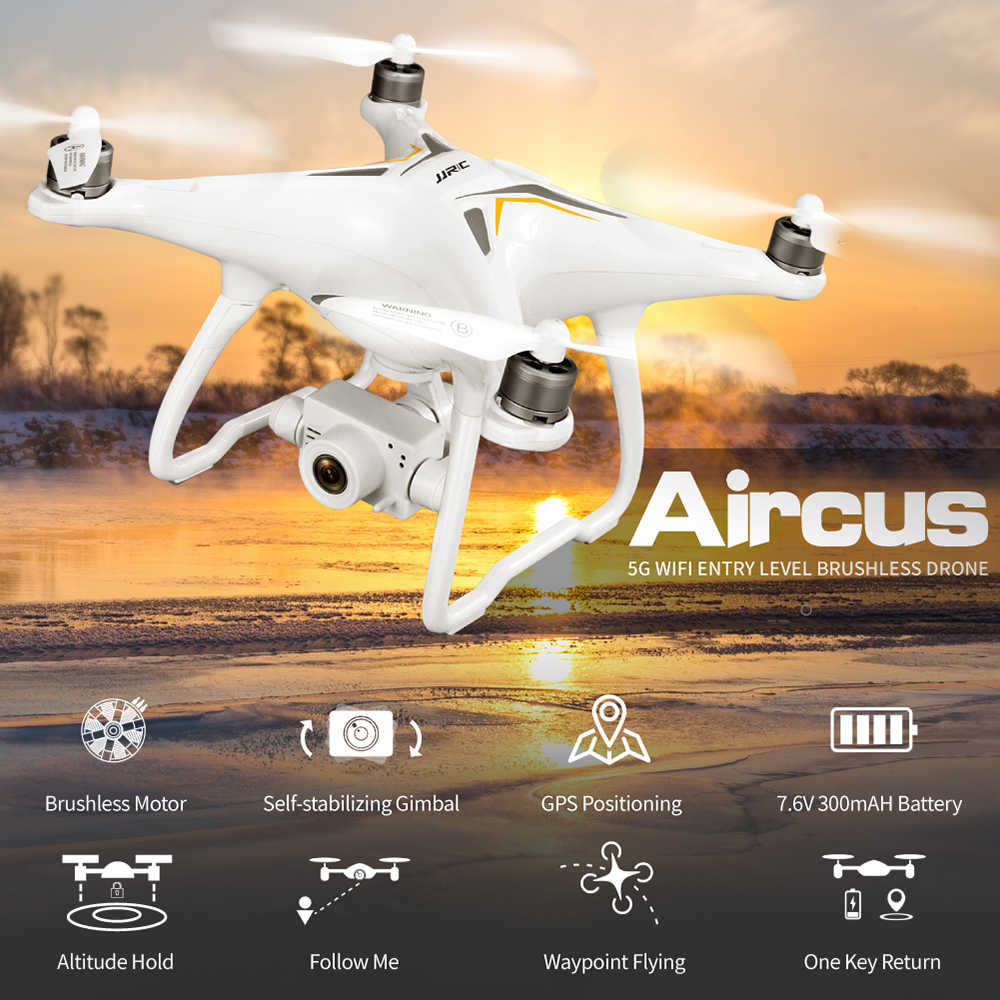 JJRC X6 GPS Drone with 5G 1080P Camera Brushless Follow Me Selfie Drone RC Quadcopter with 5MP Camera Dron GPS VS JJRC X9 Heron image